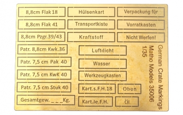 German Crate Markings (airbrush templates)