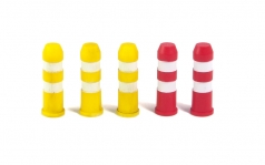 Plastic Road Bollards (5 pcs.)