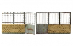 Metal Fence B - big set with gate