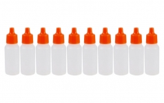 Empty 17ml Paint Bottle with eye dropper (10 pack)